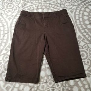 Sonoma Life + Style Size 16 Bermuda Shorts Brown